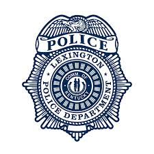 Lexington Ky, Police badge in blue and white