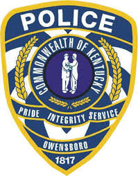 Police badge, Commonwealth of Kentucky, Pride Integrity Service. Owensboro 1817