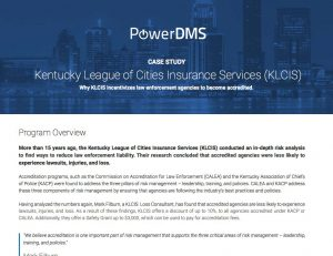screenshot of case study by PowerDMS