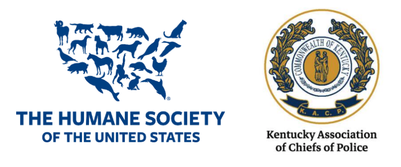 Logos for: THE HUMANE SOCIETY OF THE UNITED STATES and Kentucky Association of Chiefs of Police