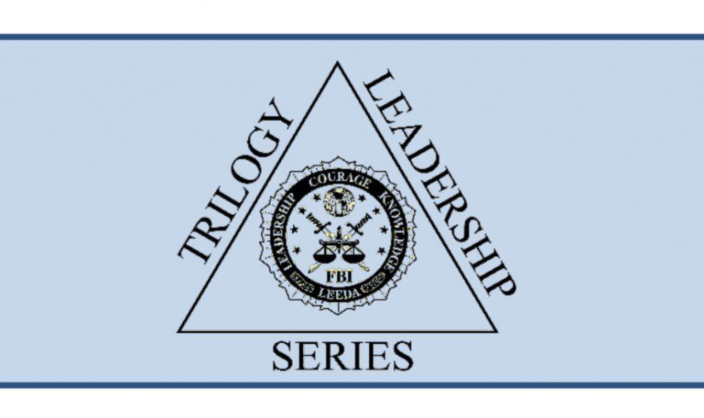 Logo. Trilogy Leadership Series. Leadership Courage Knowledge LEEDA - F.B.I.